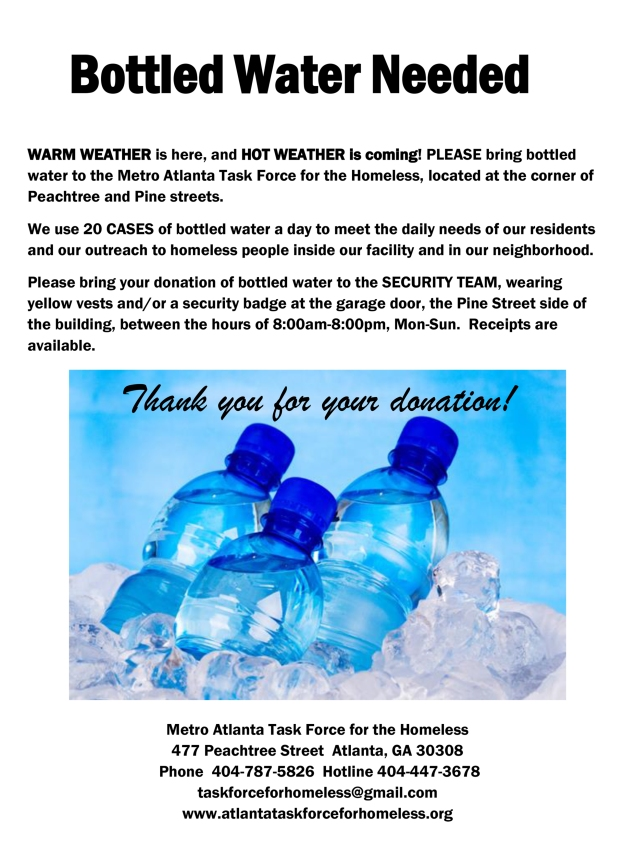 Bottled Water Needed--May 2015